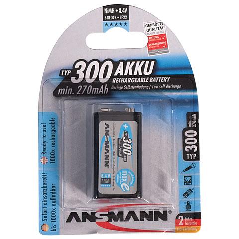 Ansmann 9V-Block 250mAh NiMH
