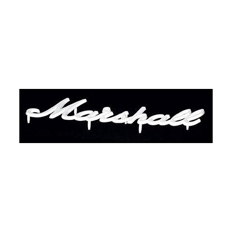 Marshall Logo weiß, mittel