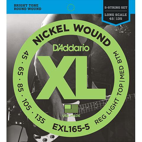 D'Addario EXL165-5 Nickel Wound .045-135