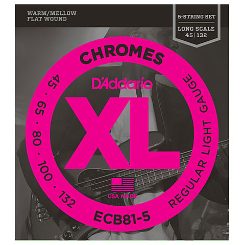 D'Addario ECB 81-5 Chromes .045-132