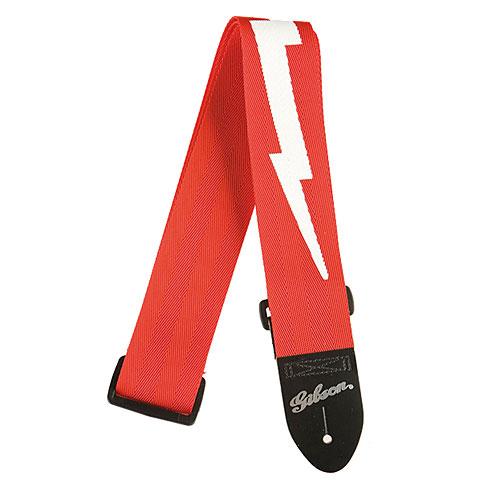 Gibson Nylon , Red, Lightning Bolt