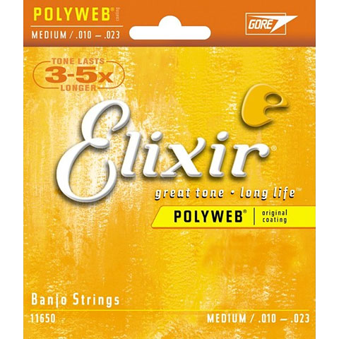 Elixir Polyweb Banjo Medium .010-023