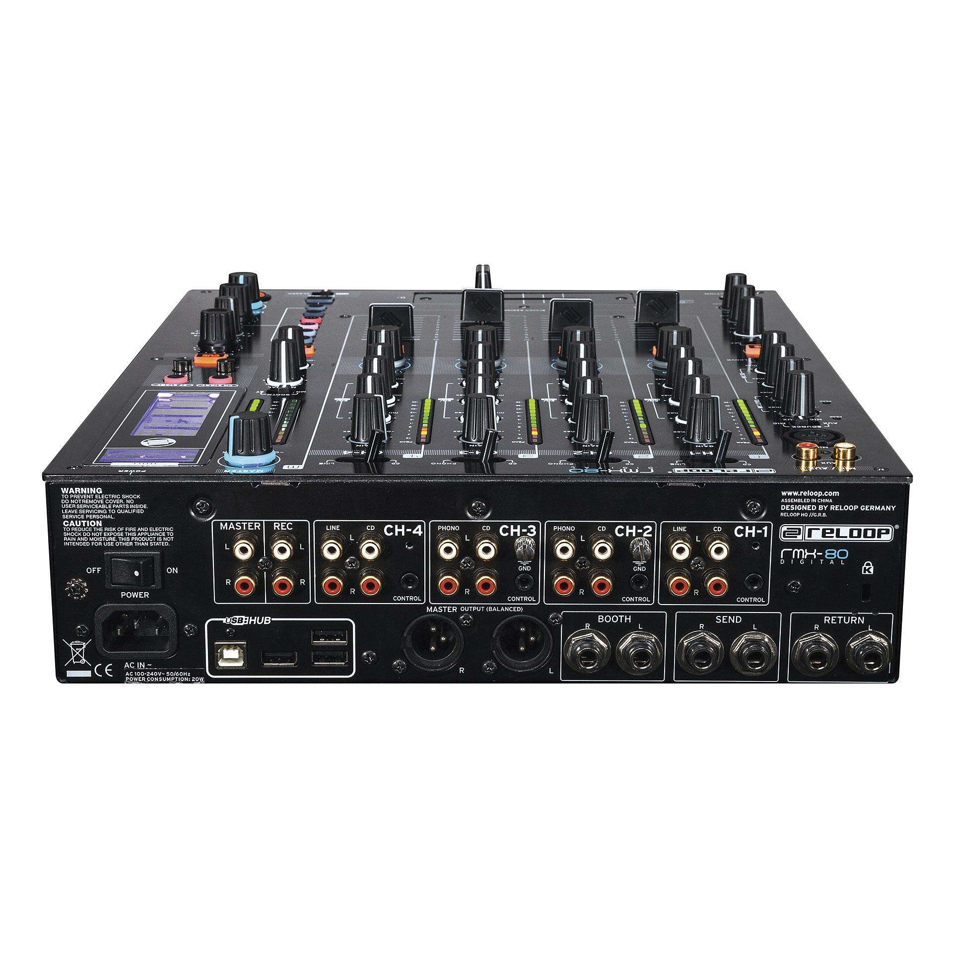 Reloop rmx 80 digital mesa de mezclas dj for Mesa de mezclas dj