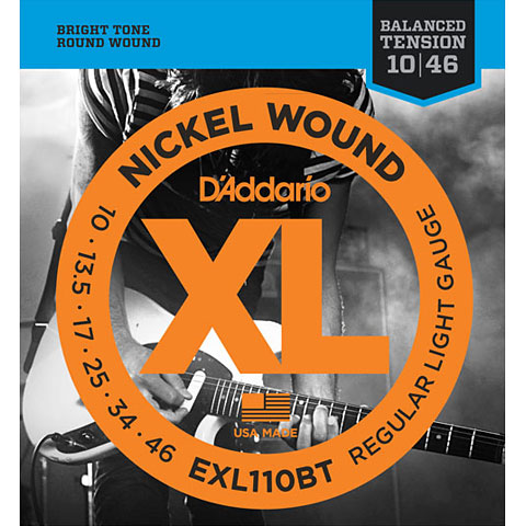 D'Addario EXL110BT Nickel Wound .010-046