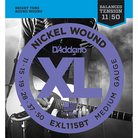 D'Addario EXL115BT Nickel Wound .011-050