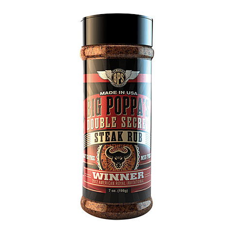 Big Poppa Smokers BPS Double Secret Steak Rub 7 oz/198 g