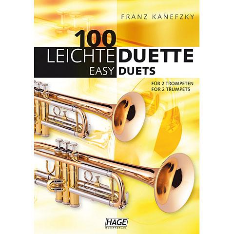 Hage 100 Leichte Duette für 2 Trompeten