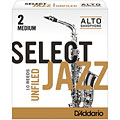 D'Addario Select Jazz Unfiled Alto Sax 2M « Cañas