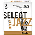 D'Addario Select Jazz Unfiled Alto Sax 2S « Cañas