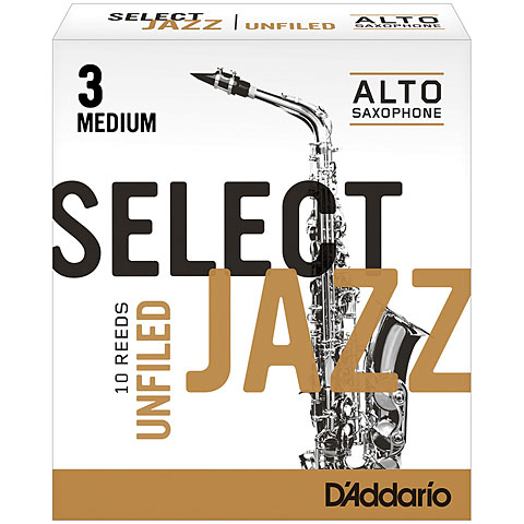 D'Addario Select Jazz Altsax unfiled 3-M