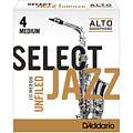 D'Addario Select Jazz Unfiled Alto Sax 4M « Cañas