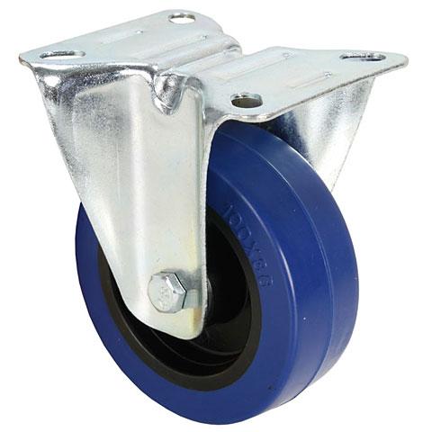 AAC 100 mm Bockrolle Gummi blau
