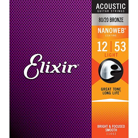 Elixir Nanoweb Bronze Light .012-053
