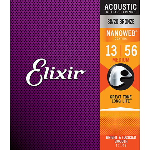 Elixir Nanoweb Bronze Medium .013-056