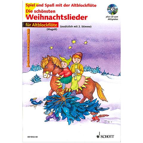 Schott Die schönsten Weihnachtslieder für Altblockflöte