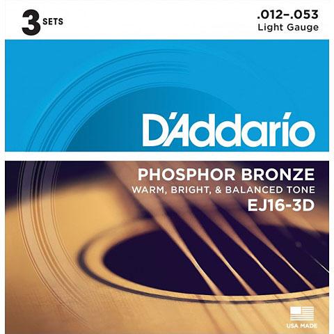 D'Addario EJ16-3D .012-053 3-D Pack