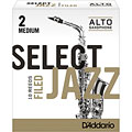 D'Addario Select Jazz Filed Alto Sax 2M « Cañas