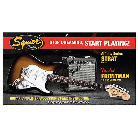 Squier Affinity Strat FM10G SB Set