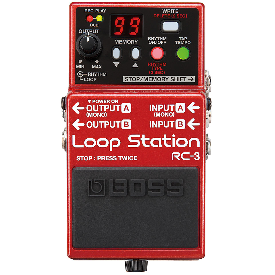 how to use boss rc-20 xl loop pedal