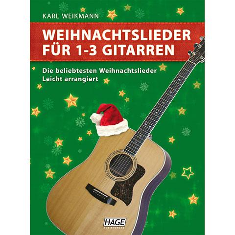 Hage Weihnachtslieder für 1-3 Gitarren