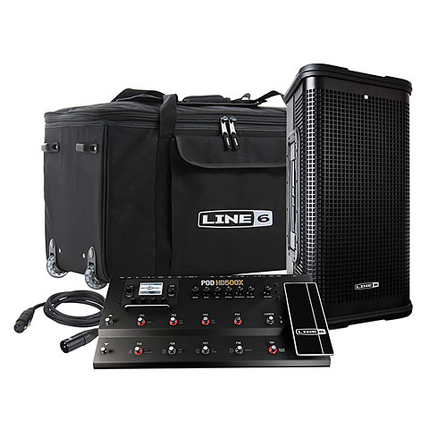 Line 6 FRFR Bundle POD HD500X + StageSource L2m