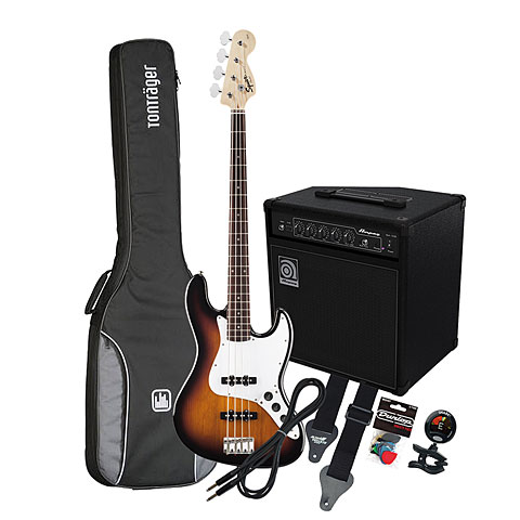 Squier Affinity J-Bass BSB / Ampeg BA-108