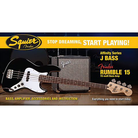 Squier Affinity J-Bass BLK / R15 V3