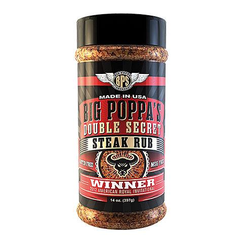 Big Poppa Smokers BPS Double Secret Steak Rub 14 oz/397 g