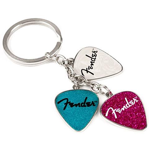 Fender Picks Keychain Pink, Turq, Pearl