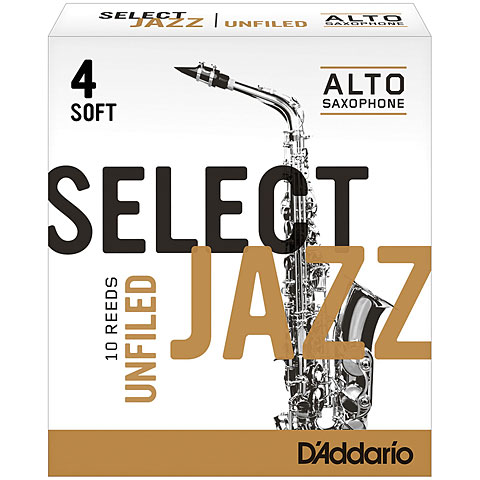 D'Addario Select Jazz Unfiled Alto Sax 4S