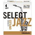 D'Addario Select Jazz Unfiled Alto Sax 4S « Cañas