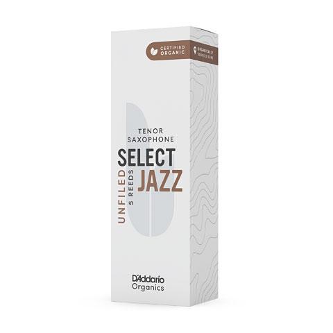 D'Addario Select Jazz Unfiled Tenor Sax 3M