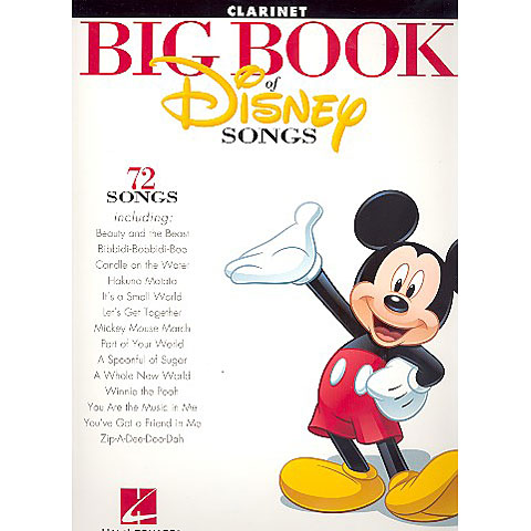 Hal Leonard Big Book Of Disney Songs - Clarinet