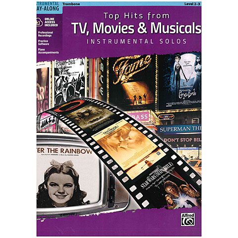 Alfred KDM Top hits from TV, Movies and Musicals for trombone