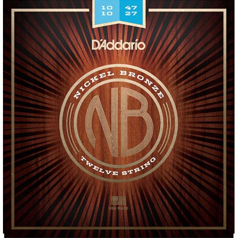 D'Addario NB1047-12 Nickel Bronze Set