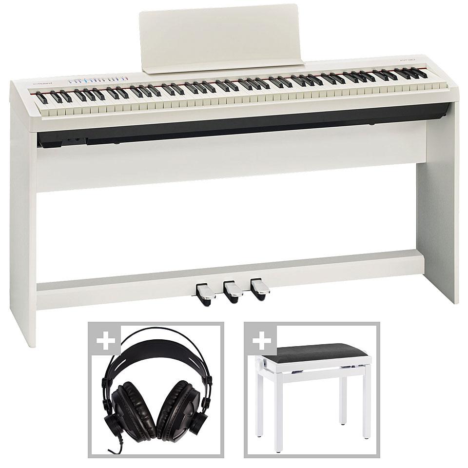 Roland Fp 30 Wh Deluxe Set Piano Escenario