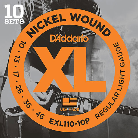 D'Addario EXL110-10P Nickel Wound .010-046 ProPack